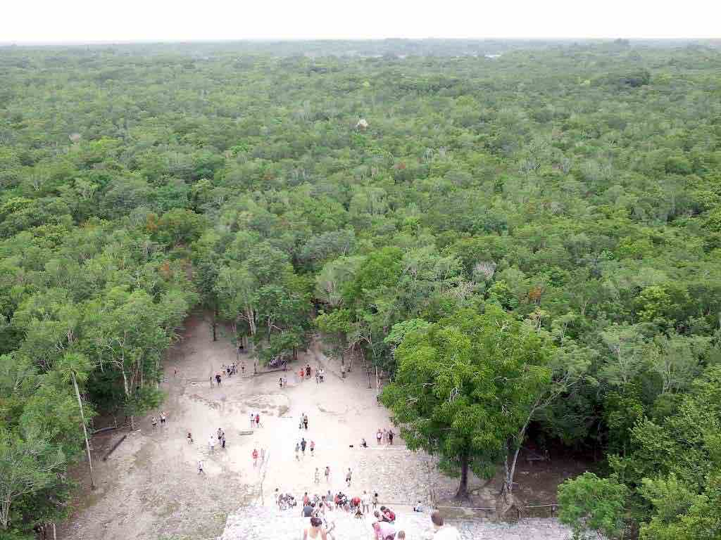 Coba, Mexico - The view from the top of Nohuch Mulat Coba