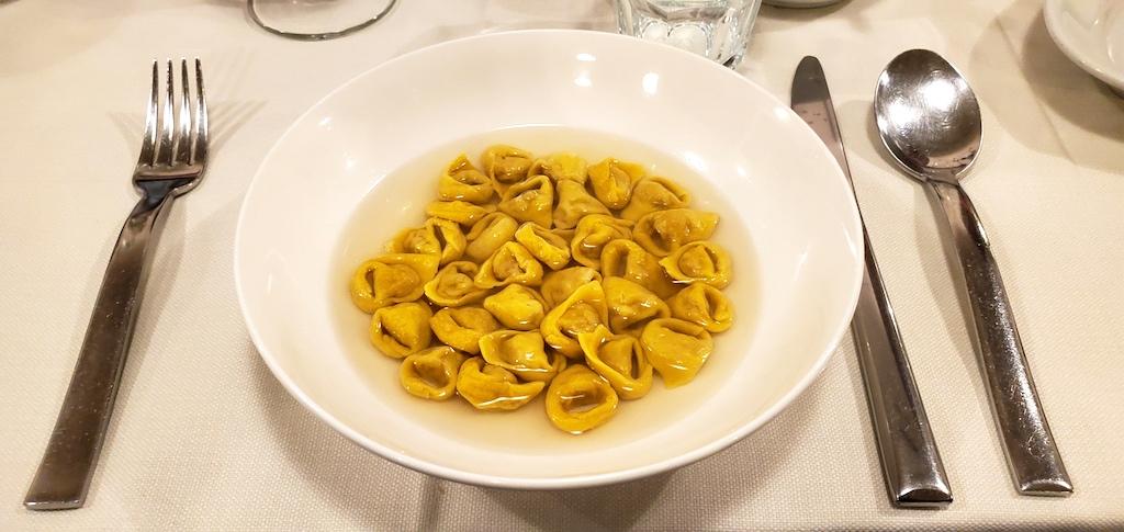 Tortellini Pomposa al Regras, Modena, Italy